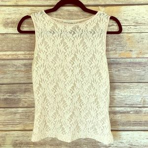 Ann Taylor women's off white top size small